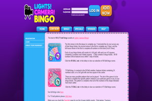 lights camera bingo website screenshot