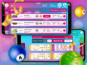 mobile bingo app screenshot