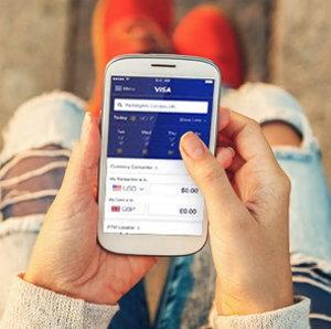mobile visa app screenshot
