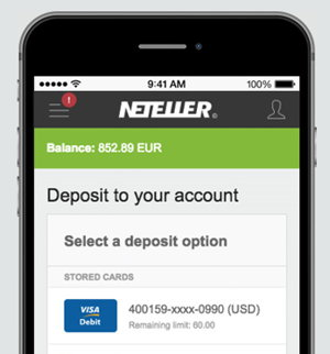neteller mobile app screenshot