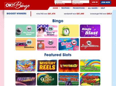 ok bingo screenshot
