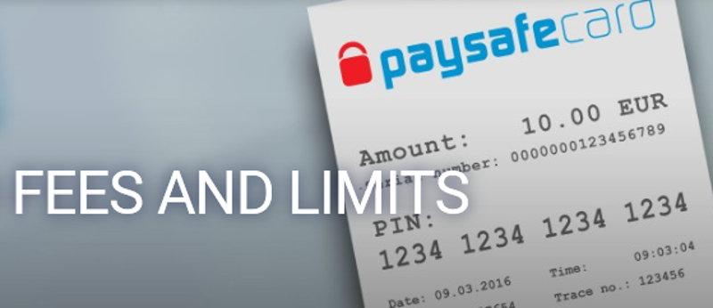 paysafecard fees screenshot
