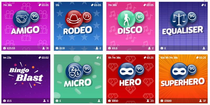 playojo bingo games