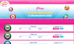 Quack Pot Bingo website homepage