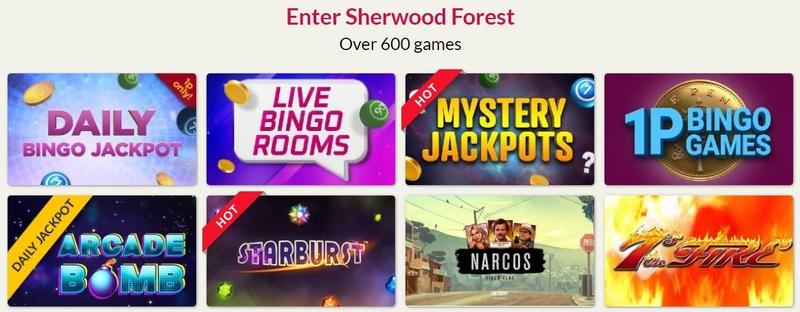 Robin Hood Bingo Side Games
