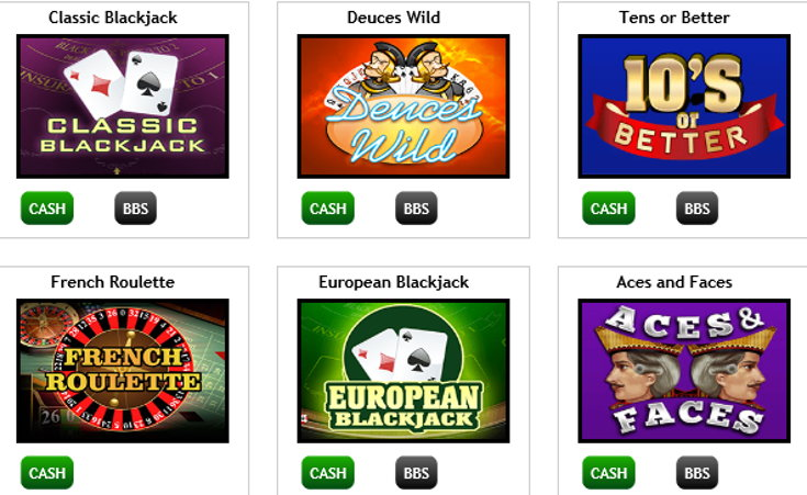 Comfy Bingo casino games screenshot