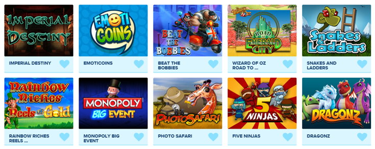 Kitty Bingo games screenshot