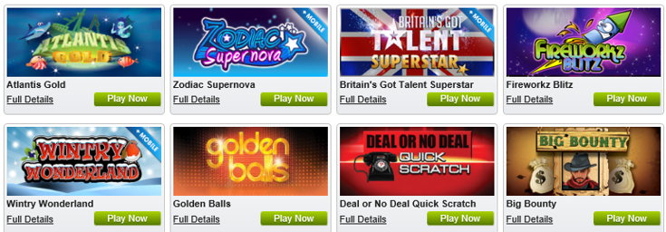 William Hill slots games screenshot