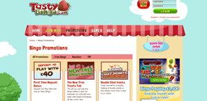 Tasty Bingo promotional page screenshot
