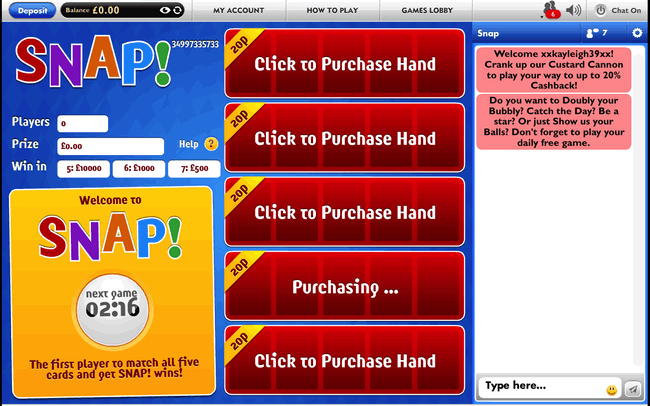 JackpotJoy Bingo Snap