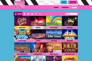 showreel bingo homepage screenshot