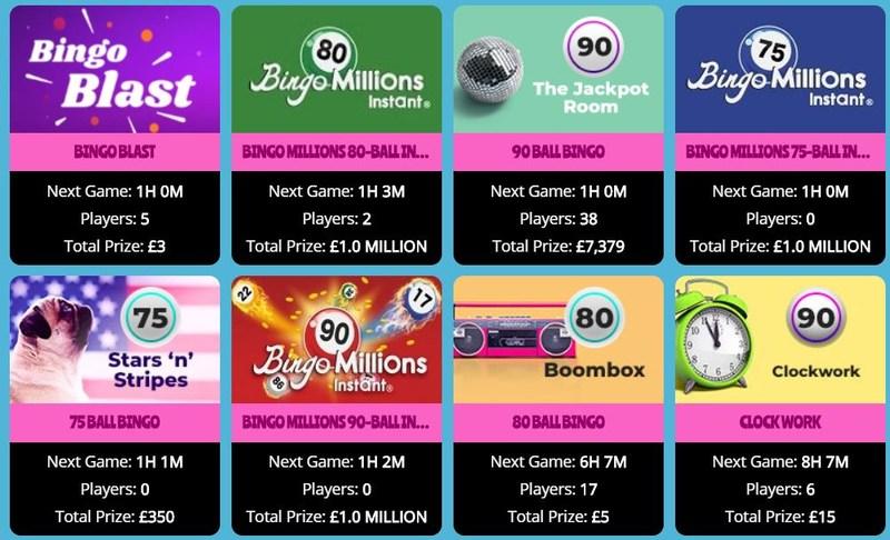 Showreel Bingo games