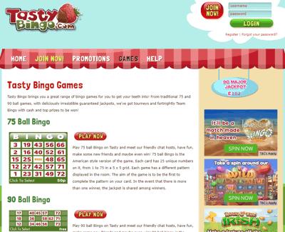 Tasty Bingo Screenshot