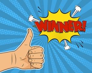 Thumbs up Winner
