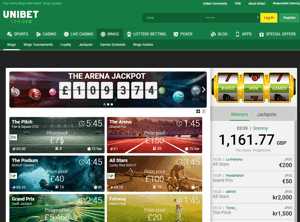 unibet bingo screenshot